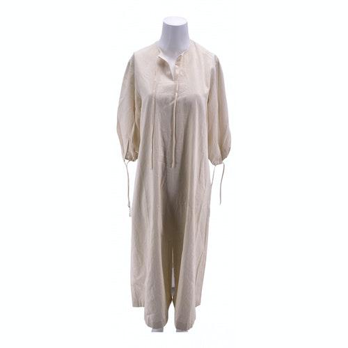 Bouguessa Ecru Cotton Dress