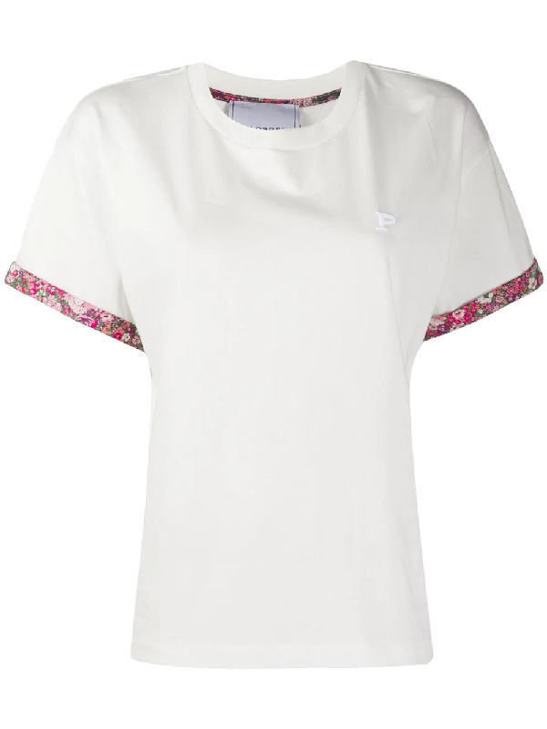 Philosophy Floral-trimmed Cotton T-shirt In White