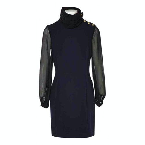 Pierre Balmain Blue Cotton Dress