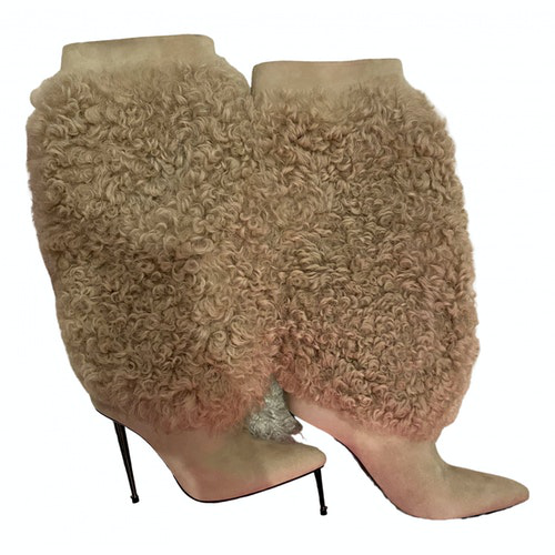 Tom Ford Beige Leather Boots