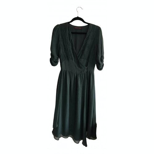 Comptoir Des Cotonniers Green Silk Dress