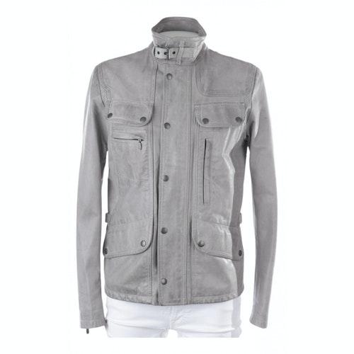 Belstaff Grey Leather Jacket