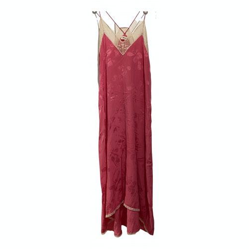 Zadig & Voltaire Spring Summer 2020 Pink Silk Dress