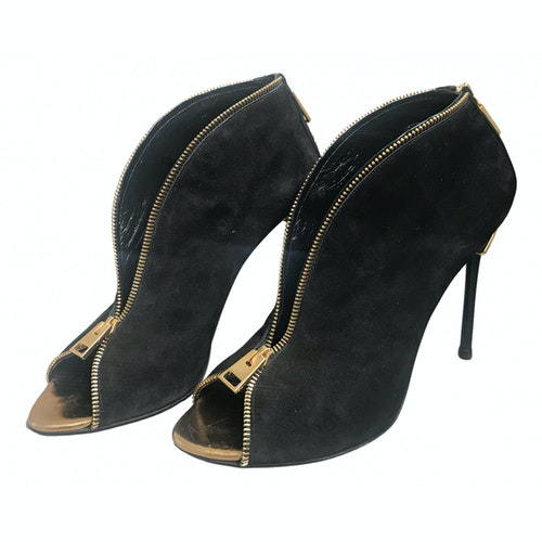 Tom Ford Black Suede Ankle Boots