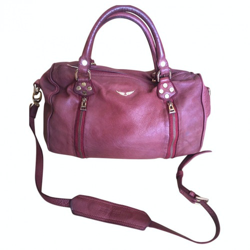 Zadig & Voltaire Sunny Burgundy Leather Handbag
