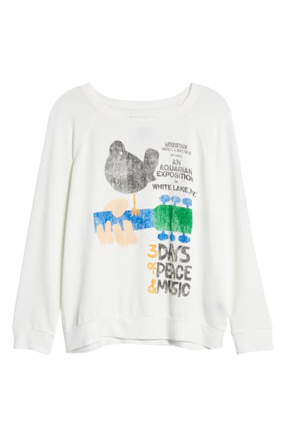 Prince Peter Woodstock Poster Graphic Pullover In White