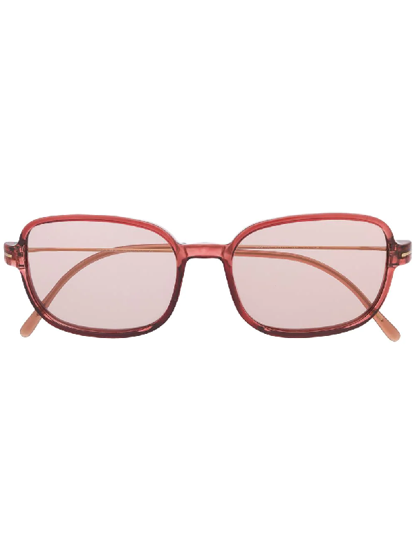 Prada 1990s Square Frame Tinted Sunglasses In Pink
