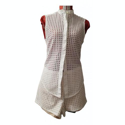 Pinko White Cotton Dress