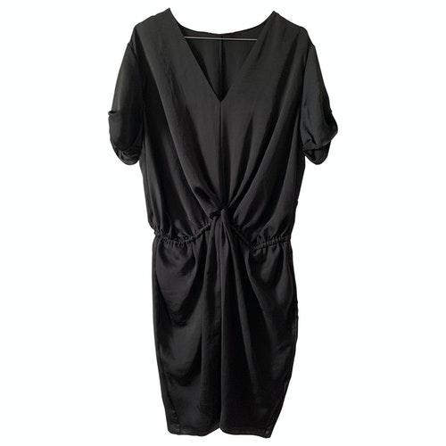 Carven Black Silk Dress