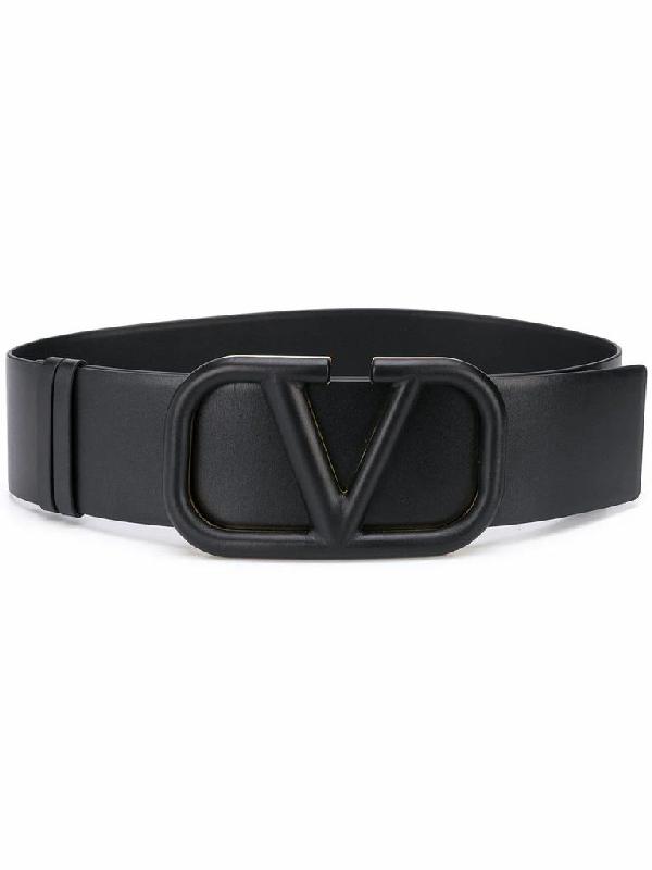 Valentino Garavani Vlogo Signature Belt In Black