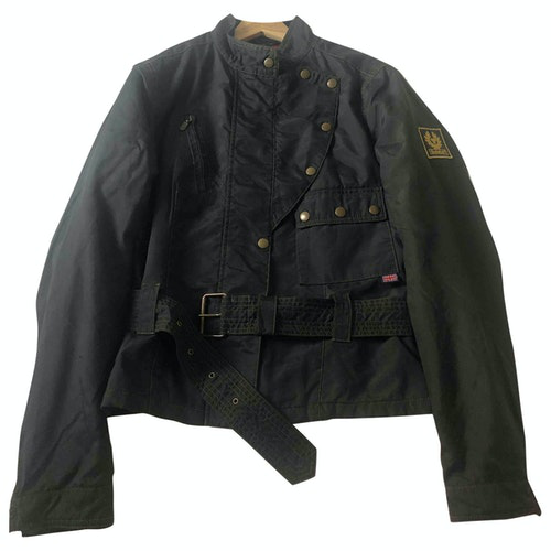 Belstaff Blue Leather Jacket