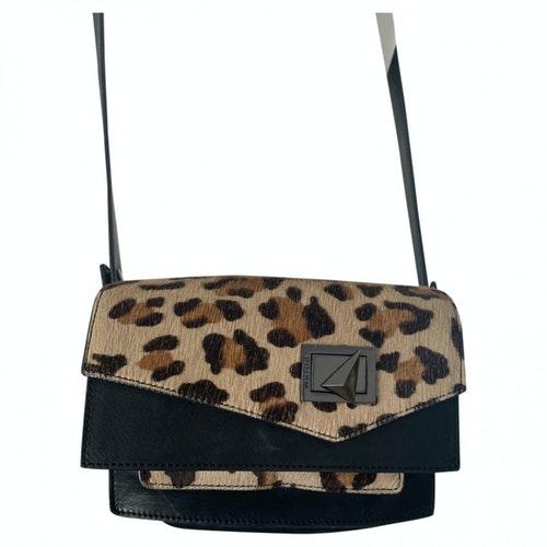 Prism Black Leather Handbag