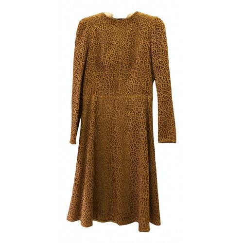 Carven Camel Cotton Dress