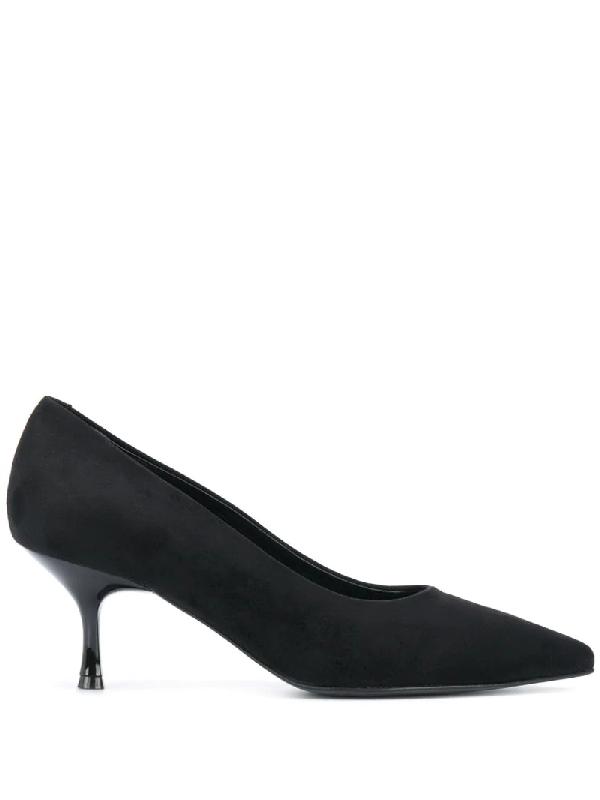 Pollini Pointed Low-heel Pumps In Black