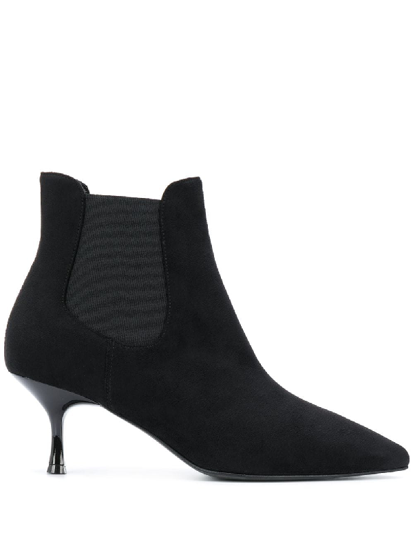 Pollini Slip-on Ankle Boots In Black