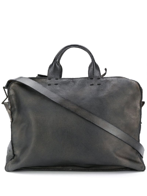 Numero 10 Santiago Distressed Effect Tote Bag In Grey