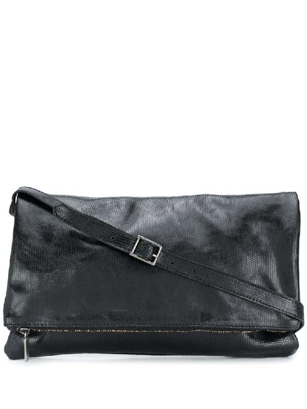 Numero 10 Durban Embossed Style Satchel Bag In Black