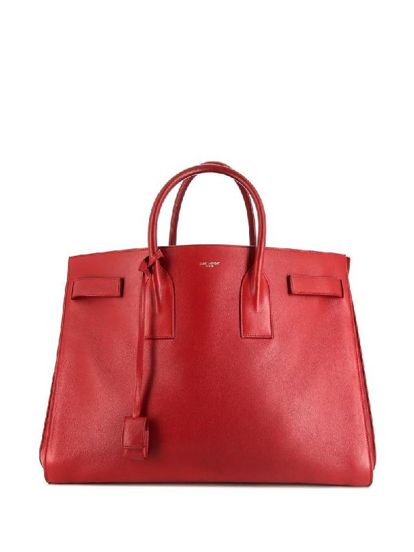 Saint Laurent Large Sac De Jour Tote Bag In Red