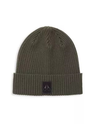 Moose Knuckles Merino Wool Beanie In Army