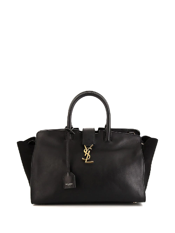 Saint Laurent Small Downtown Tote In Black