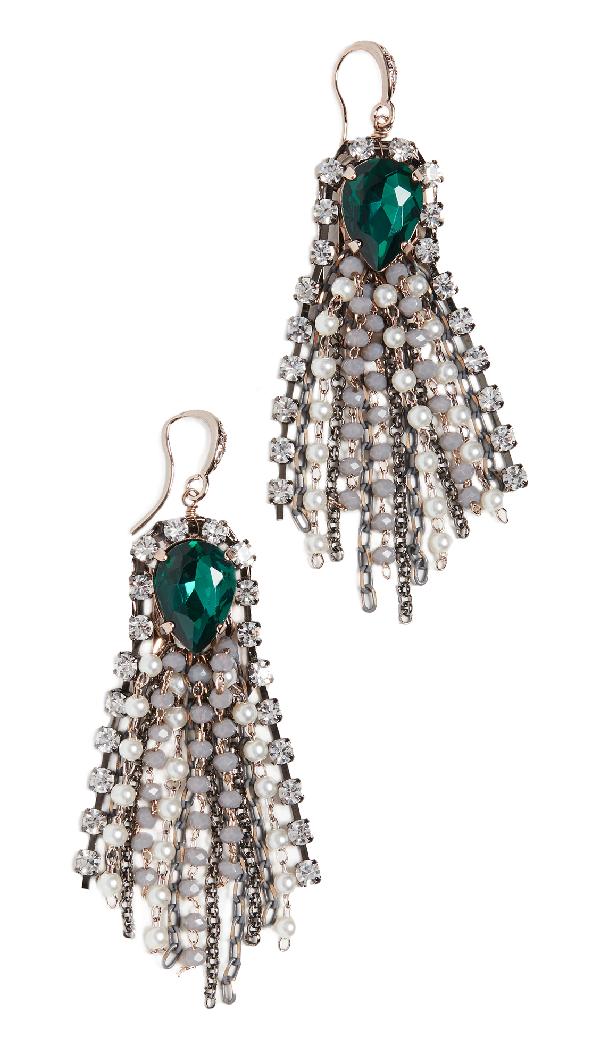 Theia Jewelry Noelle Chandelier Earrings In Grey Opal Accent