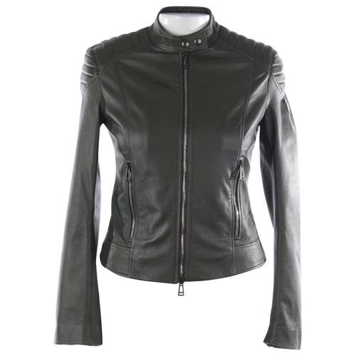 Belstaff Green Leather Jacket