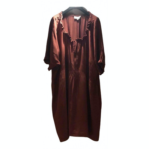 Isabel Marant Étoile Burgundy Silk Dress
