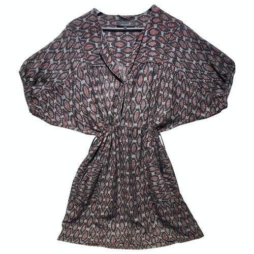 Etoile Isabel Marant Burgundy Silk Dress