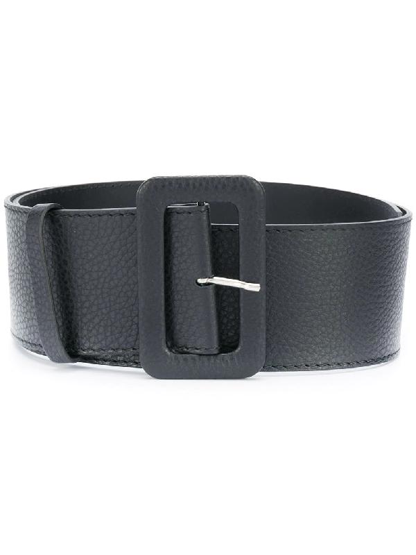 P.a.r.o.s.h. Rectangular-buckle Belt In Black