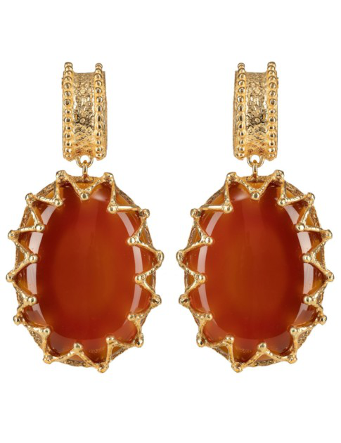 Christie Nicolaides Lola Earrings Cherry Cola In Red