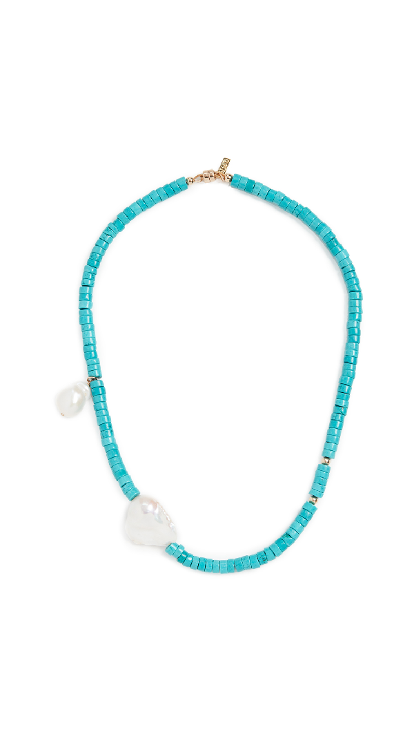 Eliou Gela Turquoise Necklace In Blue