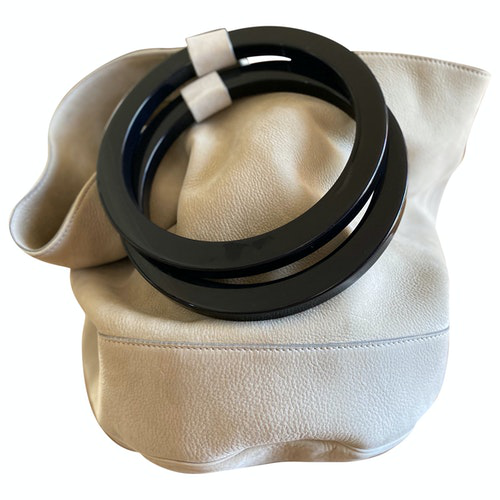Simon Miller Medium Bonsai Beige Leather Handbag