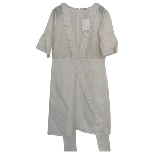 Les Coyotes De Paris White Linen Dress