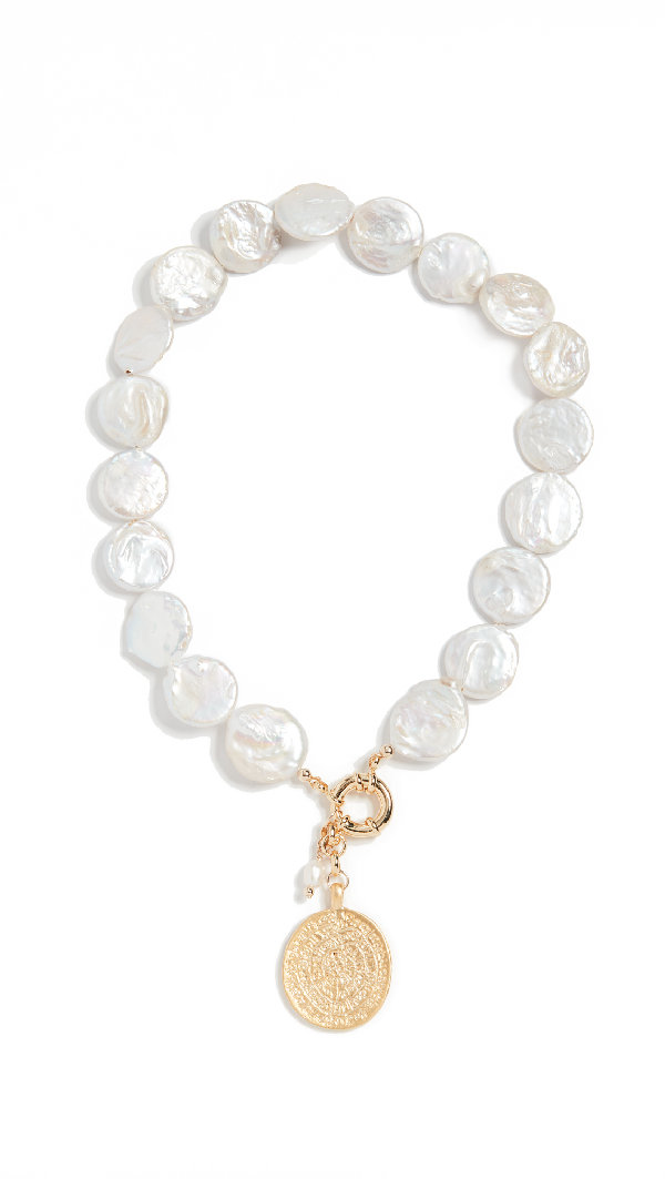 Eliou Loire Necklace In Pearl/gold