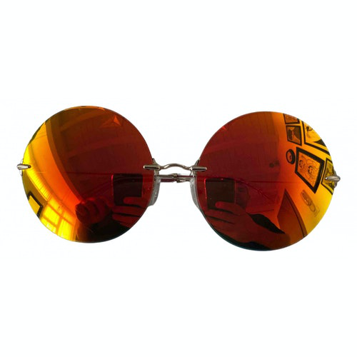 Christopher Kane Gold Metal Sunglasses