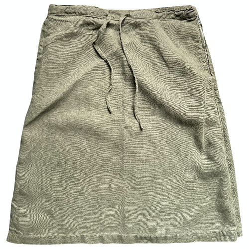 Bensimon Khaki Linen Skirt