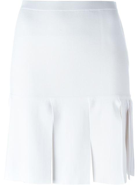 Neil Barrett Wide Fringe Skirt In White