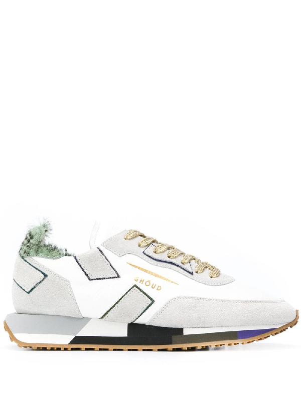 Ghoud Contrast Panel Low-top Sneakers In White