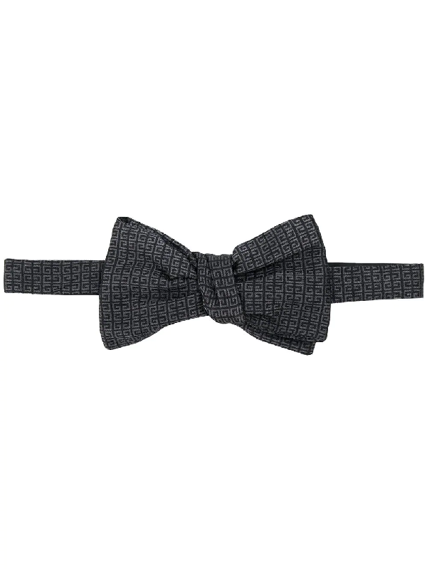Givenchy 4g Jacquard Bow Tie In Black