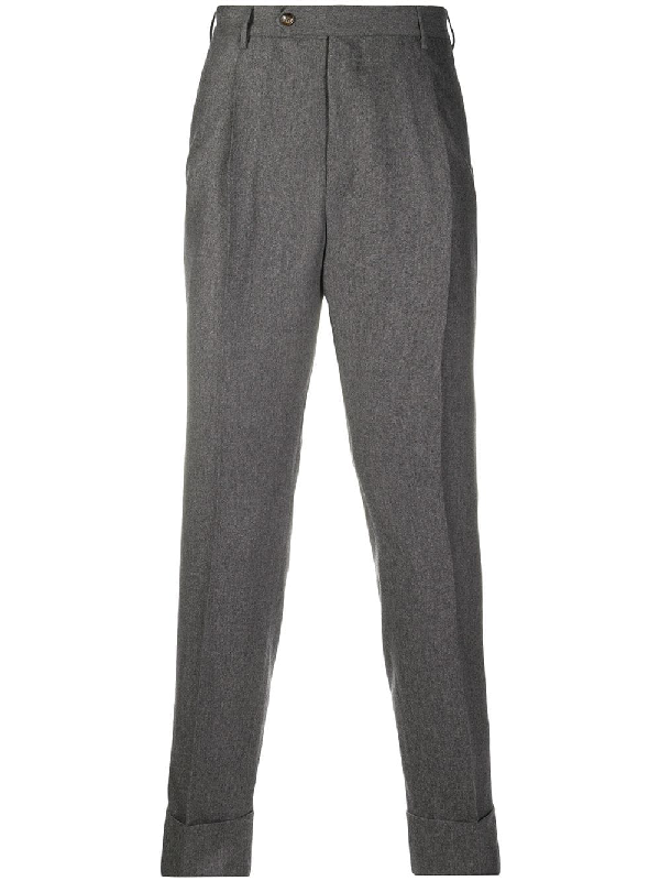 Pt01 Tapered Wool Blend Trousers In Grey