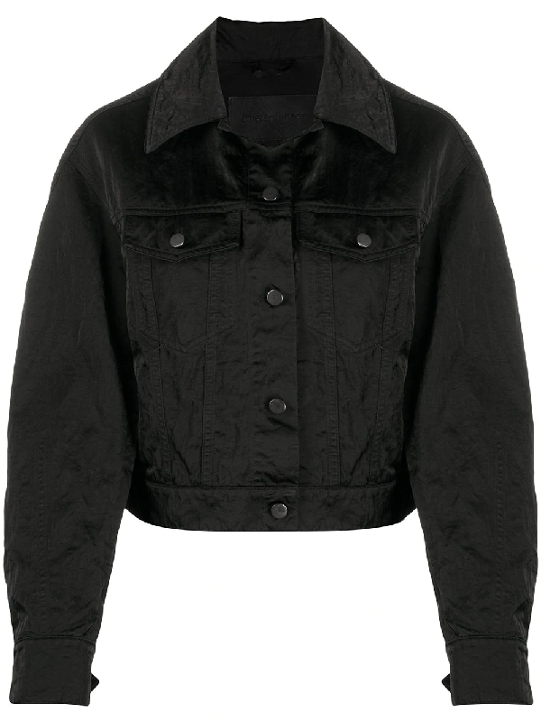 Christian Wijnants Boxy-fit Denim Jacket In Black
