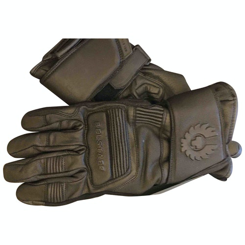 Belstaff Black Leather Gloves