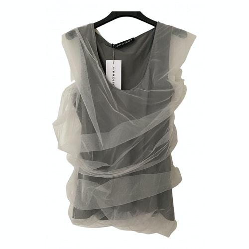 Y/project Grey Cotton  Top