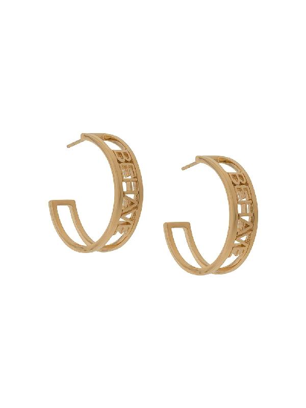 Rachel Jackson Behave Hoop Earrings In Gold