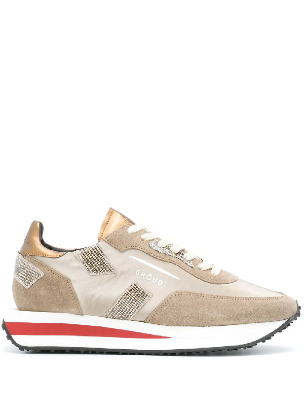 Ghoud Sneakers Rush In Suede And Nylon Color Sand In Neutrals