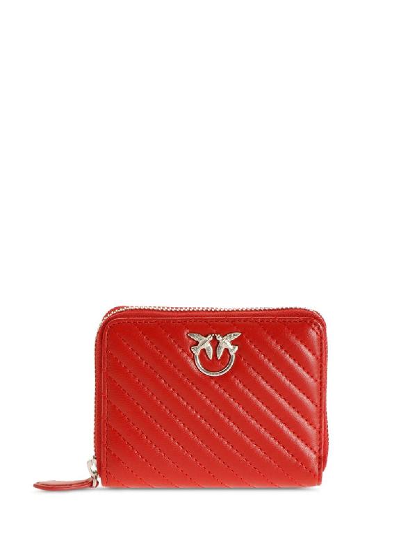 Pinko Love Zip Wallet In Red