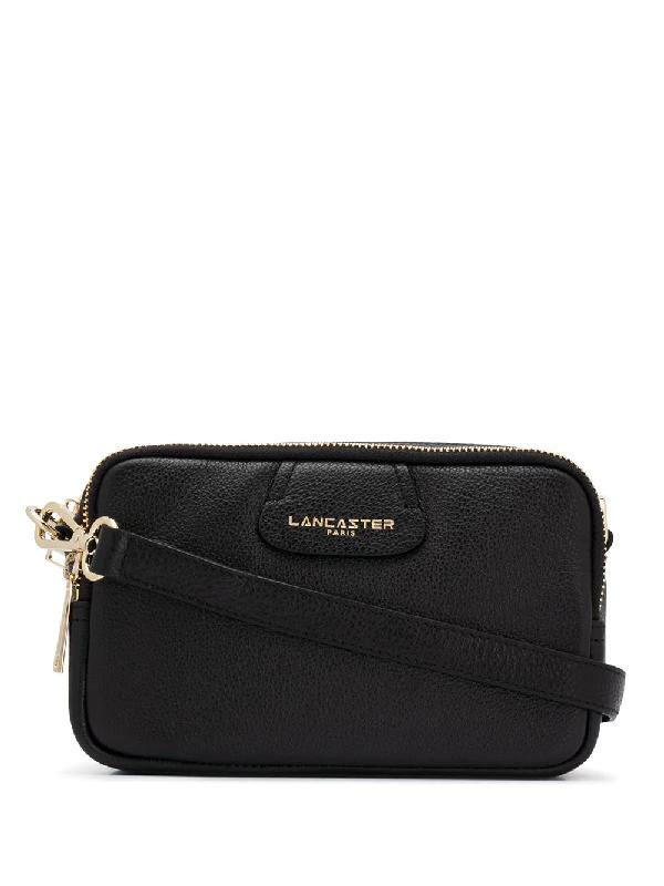 Lancaster Zip Top Cross Body Bag In Black