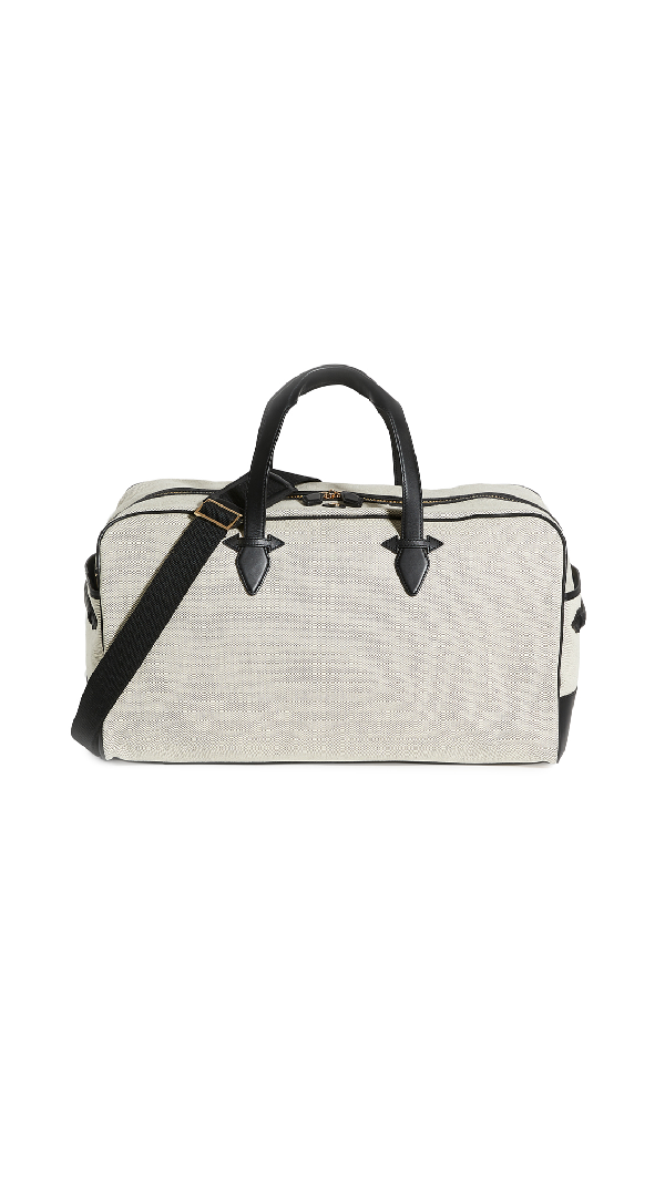 Paravel Grand Tour Canvas Holdall In Domino Black