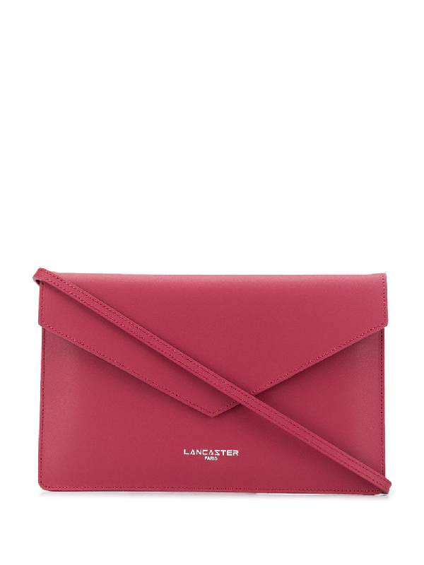 Lancaster Fold Over Shoulder Bag In Pink
