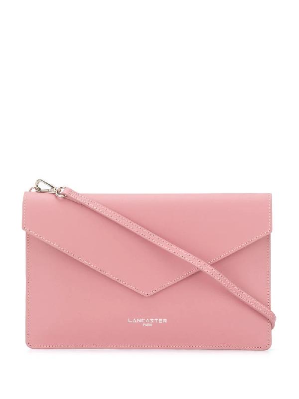 Lancaster Foldover Clutch Bag In Pink